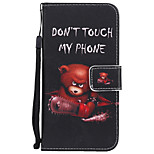 cheap -Case For Huawei P8 Lite (2017) P10 Plus Card Holder Wallet with Stand Flip Pattern Full Body Cases Word / Phrase Cartoon Hard PU Leather