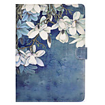 cheap -Case For Apple iPad mini 4 iPad Mini 3/2/1 Card Holder Shockproof with Stand Flip Auto Sleep/Wake Up Full Body Cases Flower Hard PU