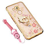 cheap -Case For Huawei Honor 8 Shockproof Rhinestone with Stand Back Cover Flower Soft Silicone for Huawei G9 Plus