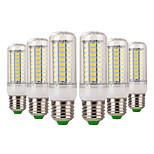 abordables -YWXLIGHT® 6pcs 7W 600-700 lm E14 E26/E27 Bombillas LED de Mazorca 72 leds SMD 5730 Decorativa Blanco Cálido Blanco Fresco AC 220-240V