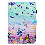 cheap -Case For Apple iPad mini 4 iPad Mini 3/2/1 Card Holder with Stand Flip Pattern Auto Sleep/Wake Up Full Body Cases Butterfly Hard PU
