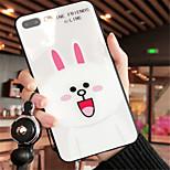 Недорогие -Кейс для Назначение Apple iPhone X iPhone 7 Plus С узором Кейс на заднюю панель Мультипликация Твердый Закаленное стекло для iPhone X