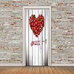 Недорогие -Геометрия Сердца Наклейки Простые наклейки 3D наклейки Декоративные наклейки на стены Дверные наклейки, Винил Украшение дома Наклейка на