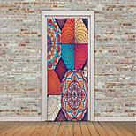 Недорогие -Натюрморт Геометрия Наклейки Простые наклейки 3D наклейки Наклейки на холодильник Дверные наклейки, Винил Украшение дома Наклейка на стену
