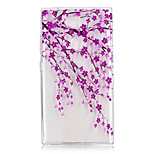 cheap -Case For Sony Xperia L2 Xperia XA2 Ultra Transparent Pattern Back Cover Flower Soft TPU for Xperia XA2 Xperia XA2 Ultra Xperia L2 Sony