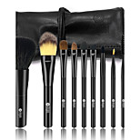 cheap -9pcs Makeup Brush Set Horse Synthetic Hair Weasel Goat Hair Horse Hair Plastic Child Adult Horse Hair