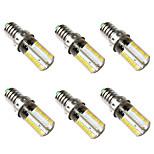 preiswerte -BRELONG® 6pcs 5W 500 lm E14 LED Mais-Birnen 80 Leds SMD 3014 Warmes Weiß Weiß 220V-240V