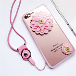 cheap -Case For Apple iPhone 6 Plus iPhone 7 Plus Pattern Back Cover Flower Soft Silicone for iPhone 8 Plus iPhone 8 iPhone 7 Plus iPhone 7