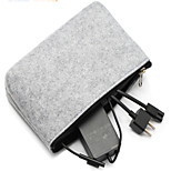 cheap -Storage Bags for Solid Color Textile Power Supply Flash Drive Power Bank Hard Drive Headphone/Earphone