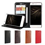 cheap -Case For Huawei P10 Plus P10 Lite Card Holder Wallet Shockproof with Stand Flip Full Body Cases Solid Color Hard Genuine Leather for P10