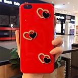 Недорогие -Кейс для Назначение Apple iPhone X iPhone 7 Plus С узором Кейс на заднюю панель С сердцем Мягкий Силикон для iPhone X iPhone 8 Pluss