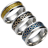 cheap -Men's Women's Band Ring Gold Black Blue Stainless Geometric Fashion Daily Costume Jewelry
