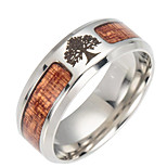 cheap -Men's Women's Band Ring Brown Stainless Tree of Life Fashion Daily Costume Jewelry
