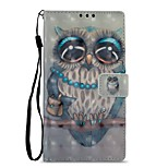 cheap -Case For Sony Xperia XZ1 Xperia L2 Card Holder Wallet with Stand Flip Magnetic Full Body Cases Owl Hard PU Leather for Xperia XA2 Sony