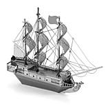 Недорогие -3D пазлы Металлические пазлы Пиратский корабль Фокусная игрушка Ручная работа Металл 1pcs Подставка Море Игрушки Детские Взрослые Девочки