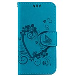 cheap -Case For Apple iPhone X iPhone 8 Card Holder Wallet with Stand Flip Embossed Full Body Cases Solid Color Butterfly Hard PU Leather for