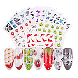 cheap -40 Water Transfer Sticker Cute Nail Decals Stickers Nail Art Design