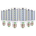 Недорогие -YWXLIGHT® 6шт 25W 2000-2500 lm E26/E27 LED лампы типа Корн T 72 светодиоды SMD 5730 Декоративная Тёплый белый Холодный белый AC 85-265V