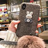Недорогие -Кейс для Назначение Apple iPhone X iPhone 7 Plus С узором Кейс на заднюю панель 3D в мультяшном стиле Твердый текстильный для iPhone X