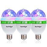 cheap -YouOKLight 3pcs 3W - lm E26/E27 LED Globe Bulbs 3 leds High Power LED Decorative RGB 85-265V