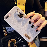 cheap -Case For Apple iPhone X iPhone 7 Plus Rhinestone Pattern Back Cover 3D Cartoon Soft Textile for iPhone X iPhone 8 Plus iPhone 8 iPhone 7
