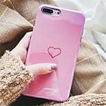 cheap -Case For Apple iPhone X iPhone 7 Plus Pattern Back Cover Heart Soft TPU for iPhone X iPhone 8 Plus iPhone 8 iPhone 7 Plus iPhone 7 iPhone