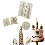 cheap -5pcs Others Cake Silicone DIY Christmas 3D Cake Molds