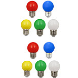 cheap -10pcs 1W 100 lm E26/E27 LED Globe Bulbs G45 8 leds SMD 2835 Decorative White Green Yellow Blue Red 220-240V