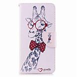 Недорогие -Кейс для Назначение Huawei Mate 10 lite Mate 10 Бумажник для карт Кошелек со стендом Флип С узором Чехол Животное Твердый Кожа PU для