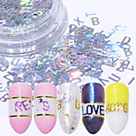 cheap -1pcs Glitter Powder Sequins Laser Holographic Sparkle & Shine Decorations Nail Art Design