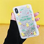 Недорогие -Кейс для Назначение Apple iPhone X iPhone 7 Plus Движущаяся жидкость С узором Кейс на заднюю панель Сияние и блеск Мягкий ПК для iPhone X