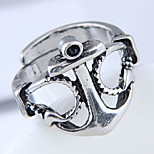 cheap -Men's Steampunk Anchor Band Ring - Anchor Steampunk / Fashion / European Silver Ring For Daily