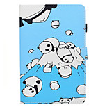 cheap -Case For Apple iPad mini 4 iPad Mini 3/2/1 Card Holder with Stand Flip Pattern Auto Sleep/Wake Up Full Body Cases Cartoon Hard PU Leather
