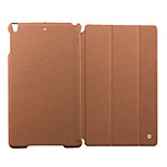 cheap -Case For Apple iPad Air Shockproof with Stand Full Body Cases Solid Color Hard Genuine Leather for iPad Air