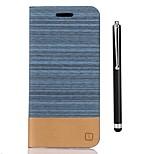 Недорогие -Кейс для Назначение LG K8 (2017) K10 (2017) Бумажник для карт Кошелек со стендом Флип Чехол Сплошной цвет Твердый Кожа PU для LG K10 LG