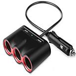Недорогие -Автомобильное зарядное устройство Телефон USB-зарядное устройство USB Несколько разъемов КК 2.0 2 USB порта 2.4A DC 12V-24V