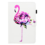 cheap -Case For Apple iPad mini 4 iPad Mini 3/2/1 Card Holder with Stand Flip Pattern Auto Sleep/Wake Up Full Body Cases Flamingo Hard PU Leather