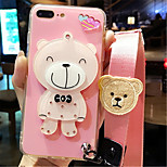 cheap -Case For Apple iPhone 6 Plus iPhone 7 Plus Mirror Pattern Back Cover Cartoon Soft Silicone for iPhone 8 Plus iPhone 8 iPhone 7 Plus