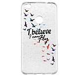 cheap -Case For Huawei P9 Lite P8 Lite Translucent Pattern Back Cover Word / Phrase Glitter Shine Cartoon Soft TPU for P10 Lite P8 Lite (2017)