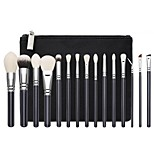 cheap -15pcs Makeup Brush Set Synthetic Hair Eco-friendly Soft Full Coverage Wood Cosmetic Eco-friendly Soft Full Coverage