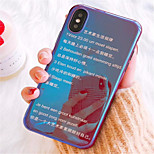cheap -Case For Apple iPhone X / iPhone 7 Plus Plating / Pattern Back Cover Word / Phrase Soft TPU for iPhone X / iPhone 8 Plus / iPhone 8