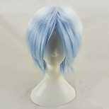 cheap -Synthetic Wig Curly Layered Haircut Ombre Hair Blue Men's Capless Cosplay Wig Short Synthetic Hair