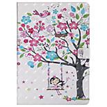 Недорогие -Кейс для Назначение Apple iPad 10.5 iPad Pro 9.7 Бумажник для карт со стендом Флип С узором Авто Режим сна / Пробуждение Чехол дерево