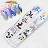 cheap -1 Nail Glitter Stylish Circular Cute Glow Color Gradient Daily Nail Art Forms