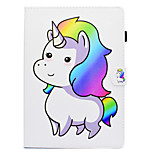 cheap -Case For Apple iPad 10.5 iPad (2017) Card Holder Shockproof with Stand Flip Auto Sleep/Wake Up Full Body Cases Unicorn Hard PU Leather for