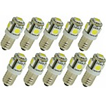 cheap -SENCART 10pcs 1.5W 90lm G4 E11 LED Bi-pin Lights T 5 LED Beads SMD 5050 Decorative Warm White White Green Yellow Blue Red 12V