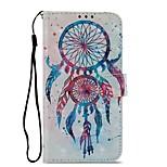 Недорогие -Кейс для Назначение Sony Xperia XZ1 Xperia L2 Бумажник для карт Кошелек со стендом Флип Магнитный Чехол Ловец снов Твердый Кожа PU для