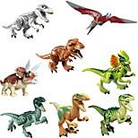 cheap -Original Jurassic World Tyrannosaurus Building Blocks Jurrassic Park Interlocking Blocks Toy Toys Dinosaur Animals Classic 8pcs Pieces