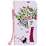 cheap -Case For Huawei P8 Lite (2017) P10 Plus Card Holder Wallet with Stand Flip Pattern Full Body Cases Cat Tree Hard PU Leather for P10 Plus