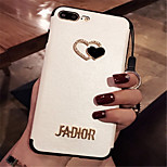 cheap -Case For Apple iPhone 6 Plus iPhone 7 Plus Pattern Back Cover Heart Hard PU Leather for iPhone 8 Plus iPhone 8 iPhone 7 Plus iPhone 7